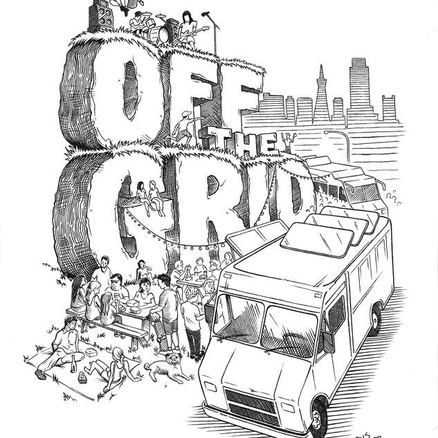 Off The Grid - T-shirt design