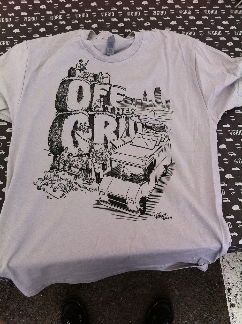 Off The Grid T-shirt Design