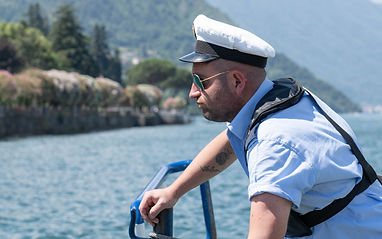 Italian lake boat skipper