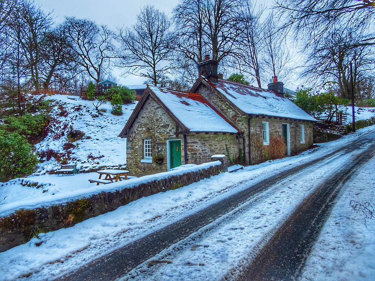 North Lodge Ford Argyll.  The house my Dad was born in, Single Card