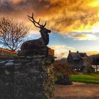 December Sunset Duntrune Castle Argyll