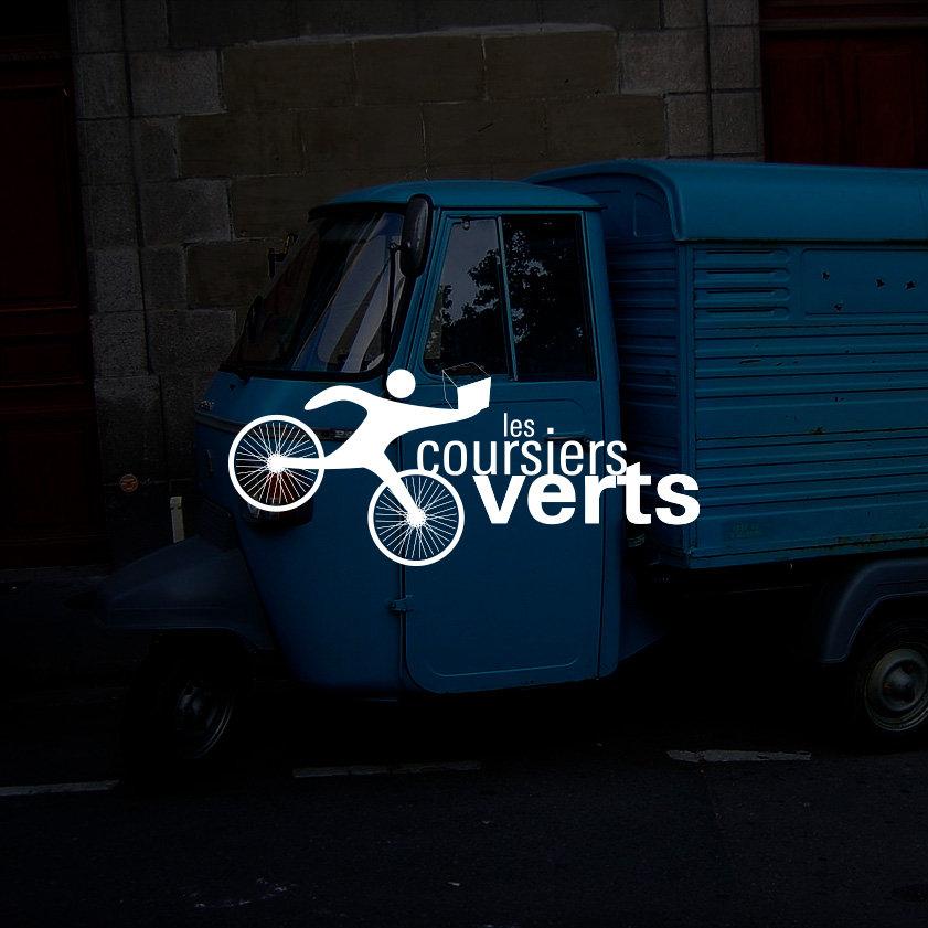 Les coursiers verts/Livraison sur Paris à vélo/ Design by Franck Petiteau