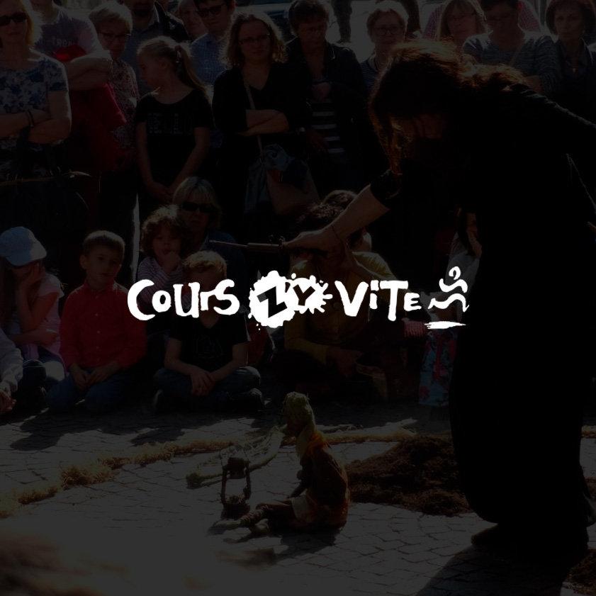 Cours z'y vite /Festival Jeune Public / Design by Franck Petiteau