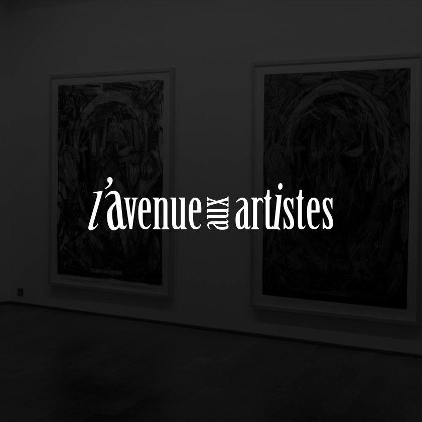 L'avenue aux artistes /Exposition de peintures dans la rue/ Design by Franck Petiteau