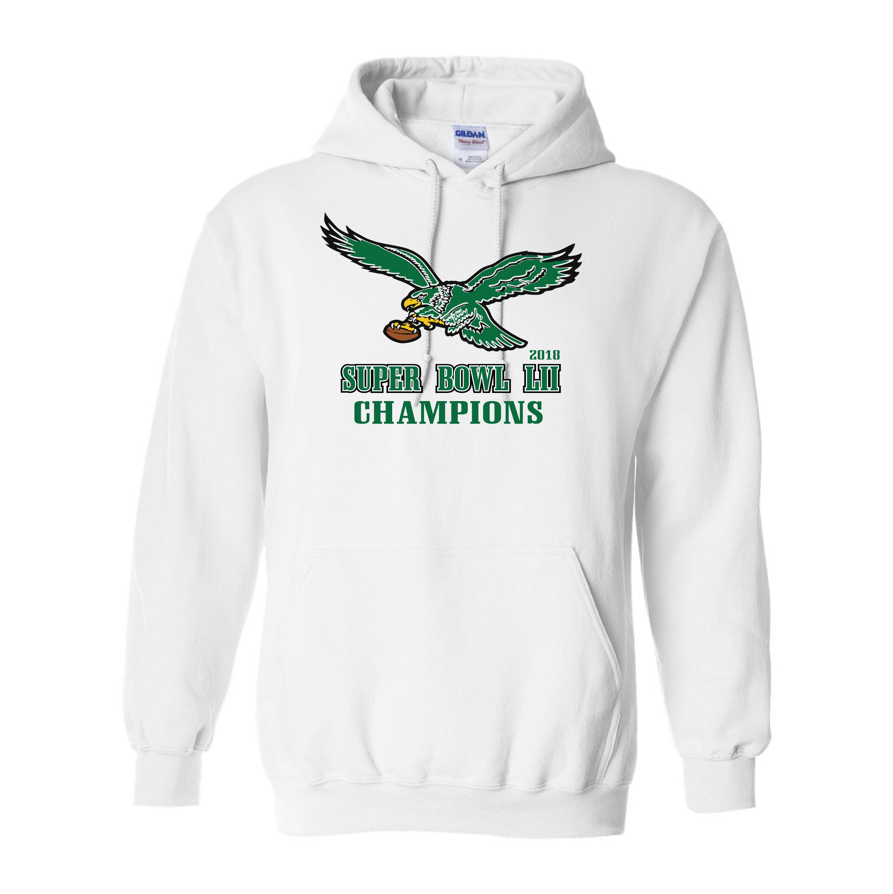 Sweatshirt Lii Style Hooded Philadelphia Super Eagles Vintage Bowl Champions lKFc1J