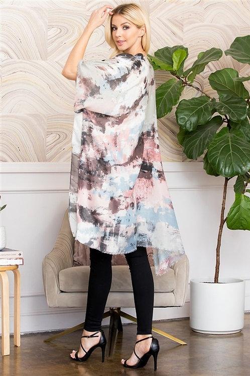 Distressed Paint Style Kimono