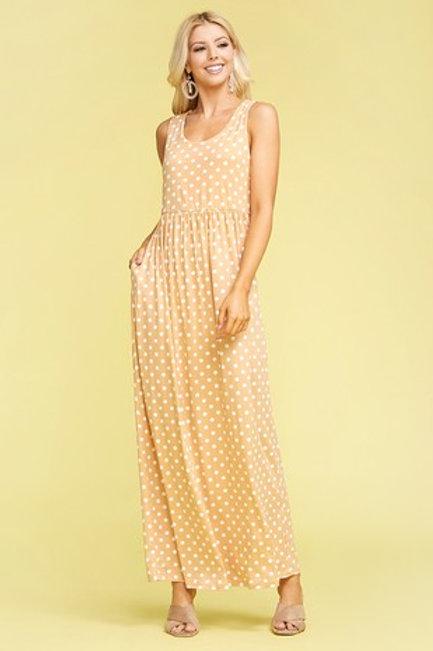 Plus Size: Empire Seam Maxi Dress With Pockets