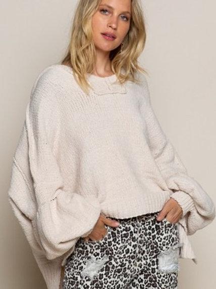 Bubble Sleeve Knit Sweater