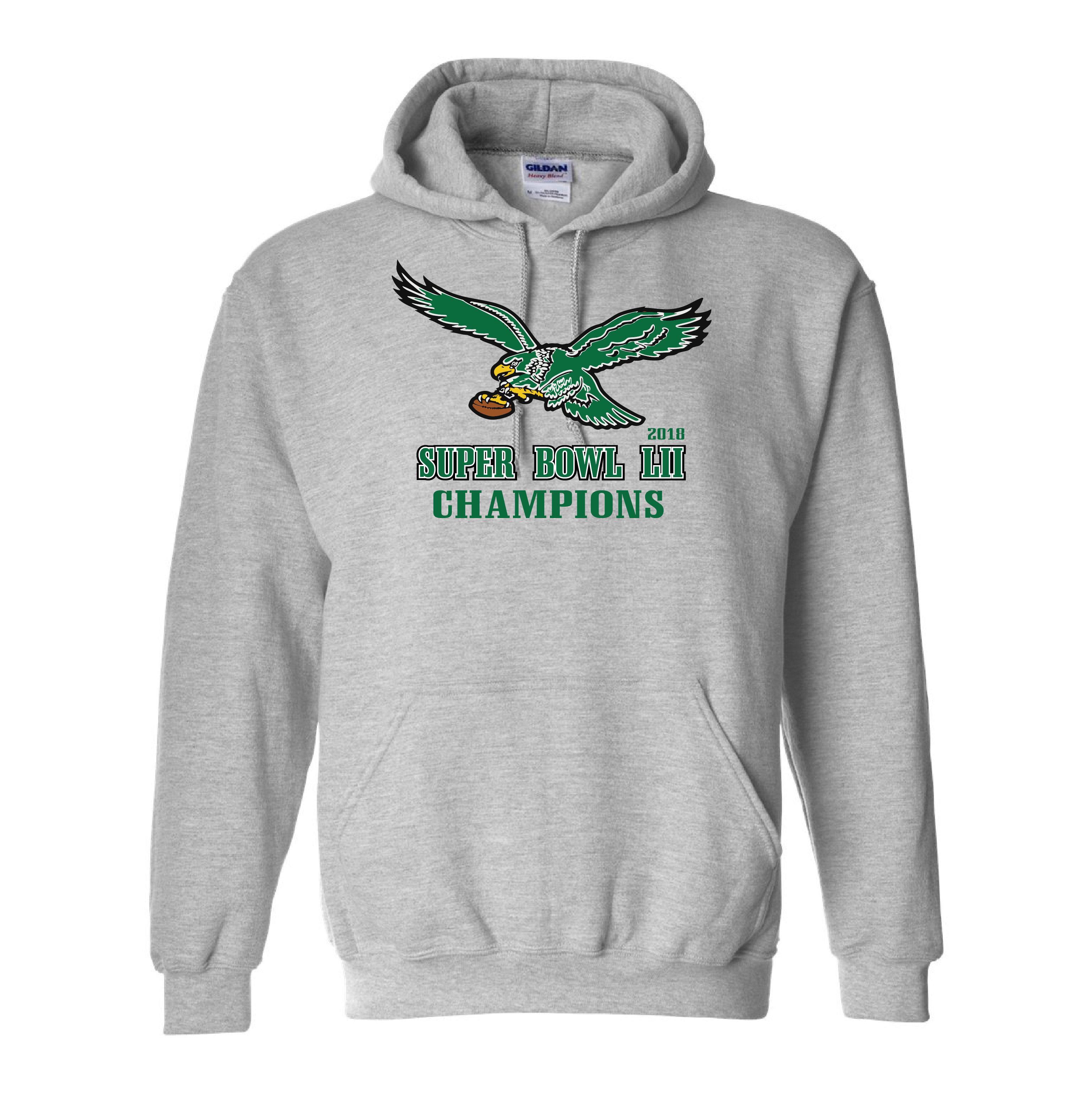 half off 3175b 779e6 Philadelphia Eagles - Super Bowl LII Champions Vintage Style Hooded  Sweatshirt