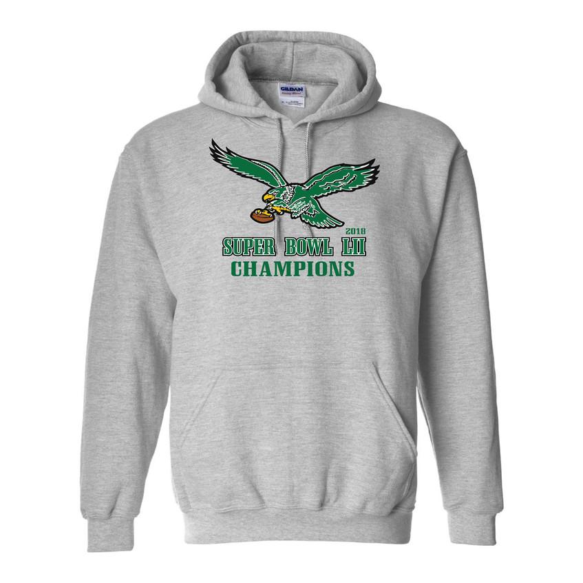 Eagles Super Bowl hood grey