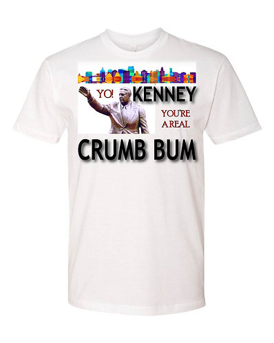 "Frank Rizzo Monument Statue T-shirt - ""KENNEY You're a real Crum Bum"