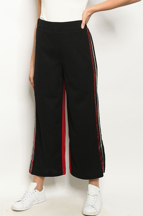 Sequin Striped Pants