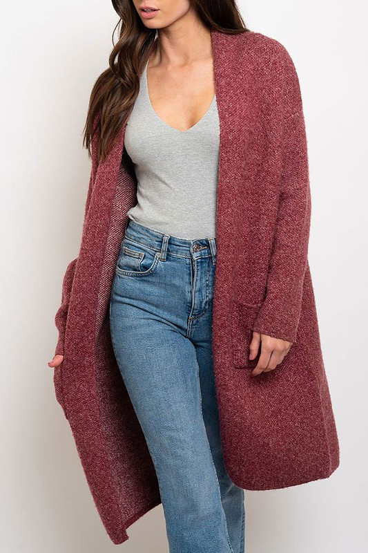 Loose Fit Sweater Cardigan