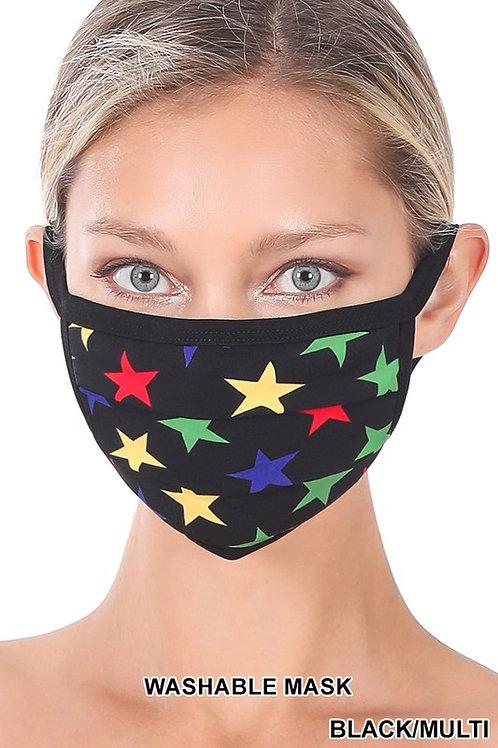 Star Print Washable Mask