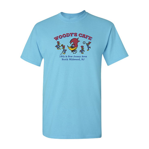 Woody's Cafe North Wildwood Vintage T-Shirt