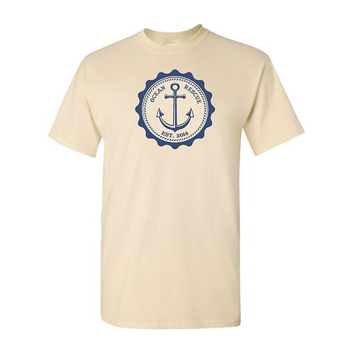 Ocean Rescue Vintage Anchor Tee Cream