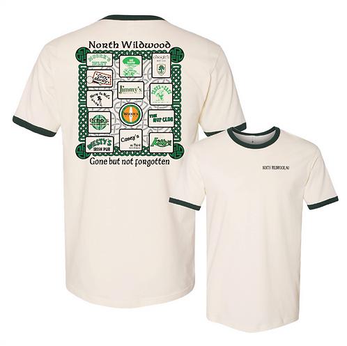North Wildwood Irish Bars T-shirt Celtic Ringer