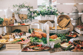 Meat, cheese and nutmeg wedding buffet w