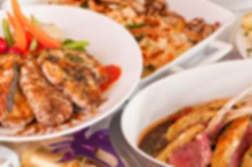 Mediterranean lamb and fish festive cuis