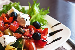 Greek Mediterranean salad with feta chee