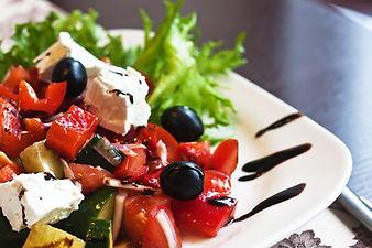 Greek Mediterranean salad with feta chee