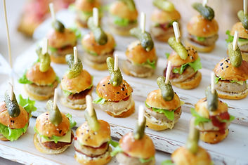 Delicious one bite mini burgers served o