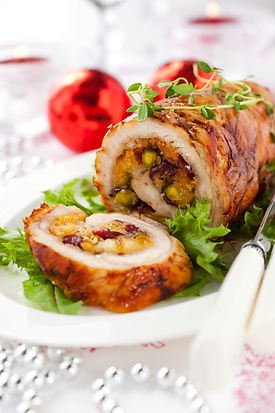 Turkey breast stuffed with cranberry,apr