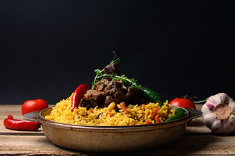 Traditional  Pilaf with vegetables. Rama