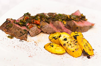 Delicious medallions of tenderloin steak