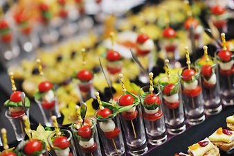 buffed food closeup of  fruits, vegetabl
