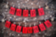 Red Tags with Happy Holidays on it Hangi