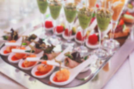 Assortment of holiday hors d'oeuvres
