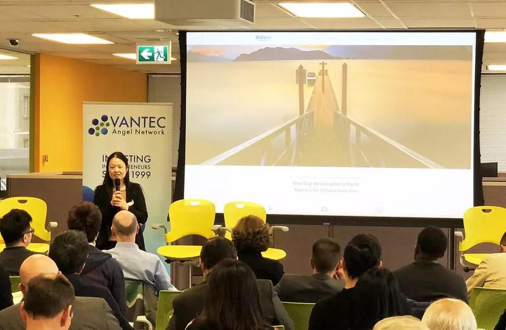 (Ms. Jing Liu, CEO of BIZFIELD Angel Network gave a speech)
