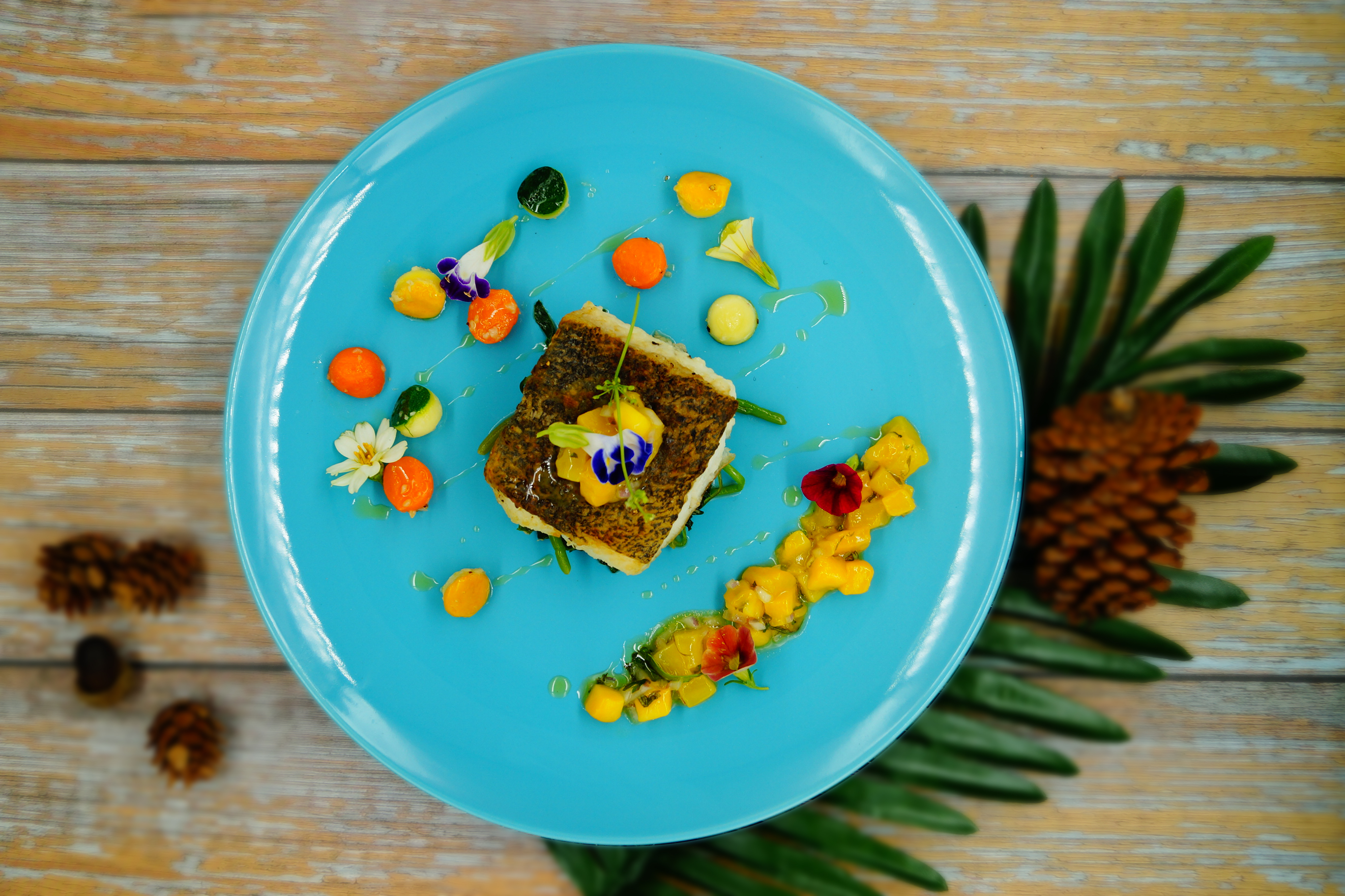 Halibut Fillet with Mango Salsa