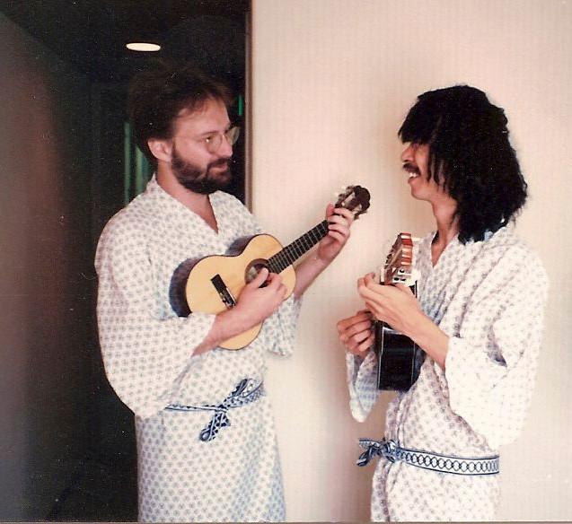 Henrique Cazes e Mitsuru do Cavaco no Japão