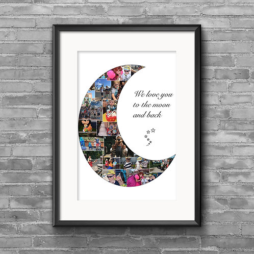 Love you to the moon and back photo collage