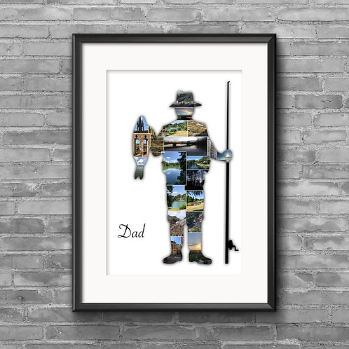 Fisherman personalised photo collage