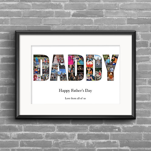 Daddy, personalised photo collage