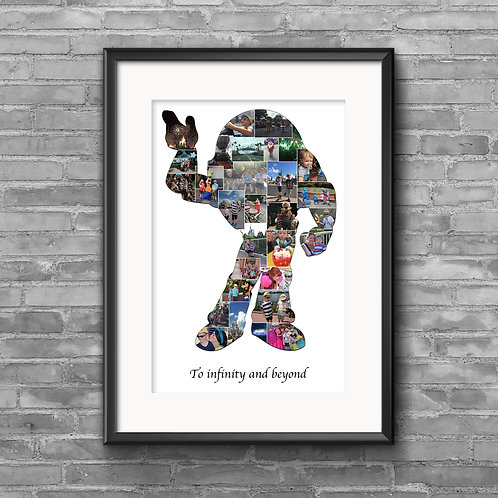Buzz Lightyear, Toy Story personalised photo collage