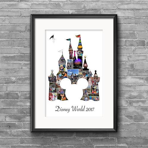 Disney World Castle - Mickey Head photo collage