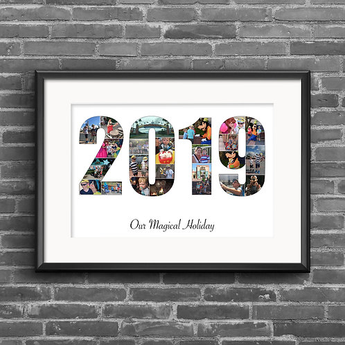 2019 year personalised photo collage