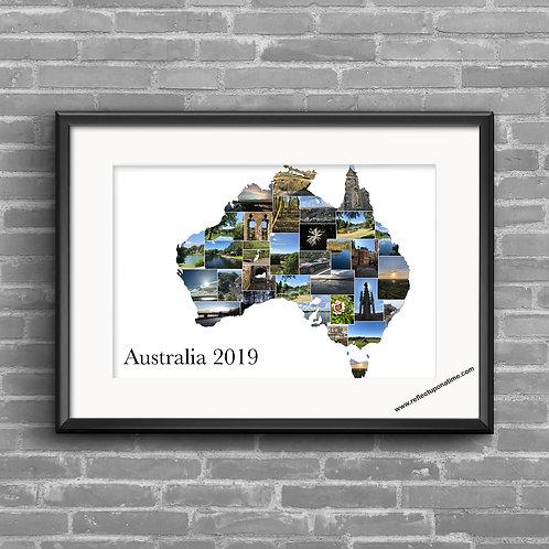 Australia personalised photo collage