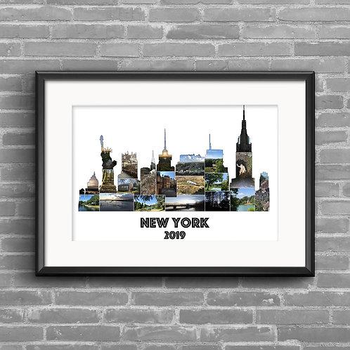 New York Skyline personalised photo collage