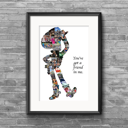 Woody, Toy Story personalised photo collage