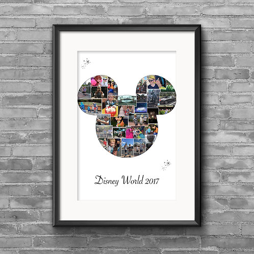 Mickey Mouse Head photo collage