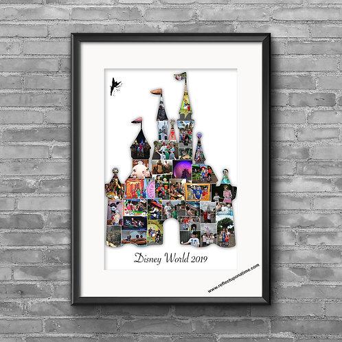 Disney World Castle Personalised Photo collage