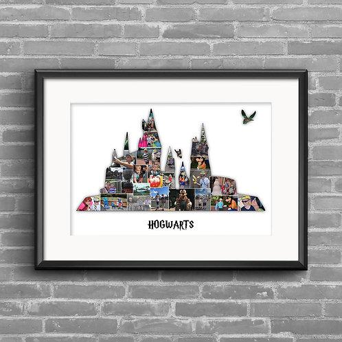 Hogwarts, Harry Potter, photo collage