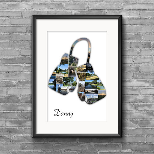 Boxing Gloves personalised photo collage