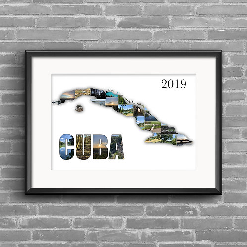 Cuba personalised photo collage