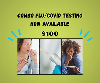 Combo Flu_Covid Testing now available we